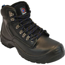 **MEN SAFETY BOOTS LEATHER STEEL TOE CAP ANKLE TRAINERS HIKING SHOES SIZE 6-13UK