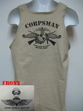 USMC FORCE RECON TANK TOP/ FMF NAVY CORPSMAN/ SARC/ MILITARY T- SHIRT