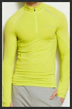 Armani Exchange Tee Shirt Long Sleeves Sports Active Muscle T Shirt Neon Green
