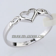Heart Fashion Engagement Ring 18KGP Size 5.5-8