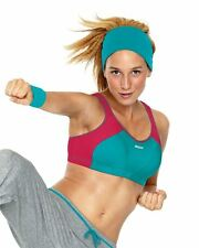 Shock Absorber Sports Bra Top 4490 Turquoise/Pink