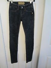 TRIPP INDIGO ACID PULL-ON SKINNY JEANS SIZE EXTRA SMALL FROM HOT TOPIC