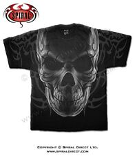 Spiral Direct All over T-shirt Gothic Heavy Metal Punk Skull SKULL WRAP WR115606