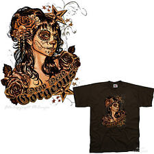 Mexican Style Tattoo Skull Chicano PinUp Rockabilly Muerte T-Shirt *7246