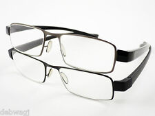 GENTS MENS QUALITY Black / Gun Metal DESIGNER READING GLASSES 1.0 1.5 2.0 2.5 3
