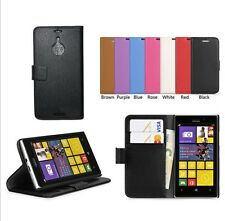 Leather Folio Wallet Flip Case Cover + Screen Protector For Nokia Lumia 1520 a