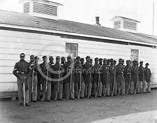 1863 COLORED NEGRO BUFFALO CIVIL WAR SOLDIERS PHOTO Largest Size