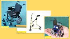 12th scale  handmade wheelchair & walking frame  3 to choose from. (NOT REAL)