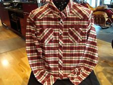Genuine Indian Motorcycle Men's IMC Plaid Shirt Embroidered logo  front and back
