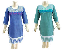 Sexy Indian Bollywood Designer Pakistani Cotton Kurti Top Suit Tunic ETHNIC EHS