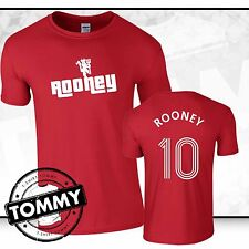 Man Utd Wayne Rooney T-Shirt, Rooney Tshirt, Manchester United Red Devils