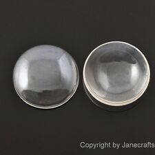 50-500x 8-40mm Round Clear Glass Dome Cabochons Flat Back Fit Cameo Settings Lot