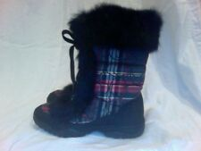 Coach Jennie Winter Boot Plaid With Signature C's NWOB Retail $198 Size 6& 8
