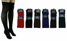1 Pair SOLID Womens OVER THE KNEE HIGH SOCKS 9-11