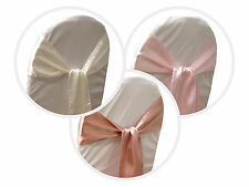 75 New Satin Chair Sash Bows Ties Wedding Party Decorations FREE Shipping SALE