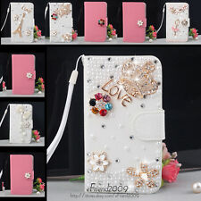 Bling Diamond Wallet PU Flip Leather Hard Case For Samsung Galaxy Ace Duos S6802