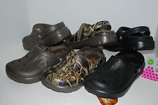 NWT CROCS DASHER LINED CLOGS CHOCOLATE BROWN BLACK REALTREE CAMO 6 8 9 10 11 12