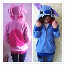 Kigurumi disney Lilo & Stitch blue hoodie cosplay coat jacket