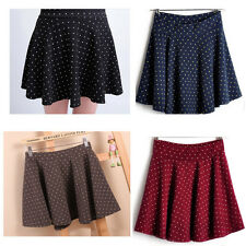 New Fashion Women Autumn Winter Wool blend pleated skirts Stretch waist skirts