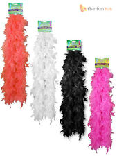 Fancy Dress Feather Boa Black Red White Pink Ladies Burlesque Hen Night Costume