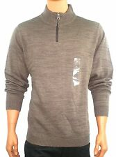VIA EUROPA MENS BROWN 1/2 ZIPPER SWEATER NEW XL, XXL