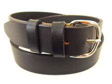 Mens Black Leather Bridle Belt 35mm USA American Made