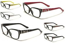 New DG Women's Fashion Clear Glasses Red, Yellow (NO PRESCRIPTION) DG1171CL