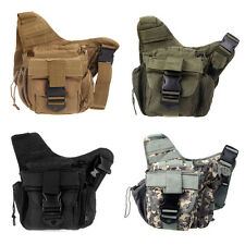 4 Color Molle Military Tactical Utility Shoulder Strap Camera Backpack Bag Pouch