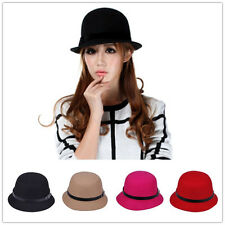 1pcs New Winter Warm Lady Women's Mens' Fedora Trilby Bucket Style Wool Hat Cap