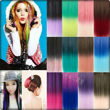 One Piece Gradual Colorful Long Straight Clip-in Hairpiece Hair Extentions