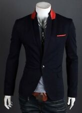 Stylish Sexy Men's Slim Fit Suit One Button Business Casual Blazer Coat Jacket