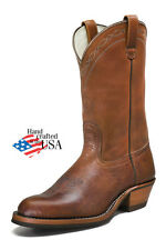 White's Boots Rancher Genuine Brown Bison Leather Hathorn Line Cowboy Work 329