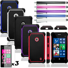 Heavy Duty Hybrid Rugged Hard Impact Case Cover For T-mobile Nokia Lumia 521