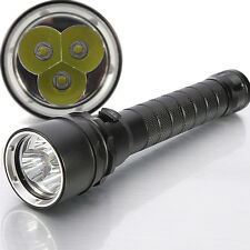 4000Lm 3X CREE XM-L T6 LED Submerged Diving Flashlight Torch Waterproof 100m