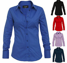 LA ROTTO Damenbluse Business Freizeit Hemd Slim Fit Damen Bluse Gr:XS S M L XL
