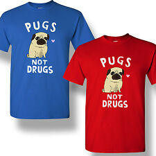 Russell Howard Pugs Not Drugs T-Shirt Funny Dog Comedy Mens Adult Shirt S-2XL