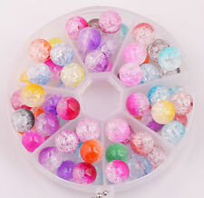 50pcs mixed colour acrylic crack ball spacer beads 10/12mm