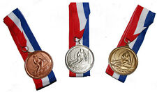 New! Alpine Ski Award Medals (Ski Racer) w/Red, White, and Blue Ribbon