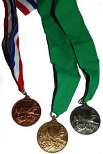 Brand New! Podium Multi Use Snowboard Award Medals (Ski Racer) w/Ribbon