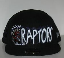 Mens New Era 59FIFTY Toronto Raptors HWC Dual Court Fitted Cap Hat Black NWT