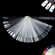 x50 FALSE DISPLAY NAIL ART FAN WHEEL POLISH PRACTICE TIP STICKS DESIGN FALSE