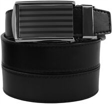 SlideBelts Bar Striped Mens Leather Automatic Ratchet Belt