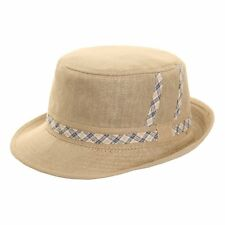 MEN'S FLAT TOP TRILBY PORK PIE FASHION HAT 57-59CM