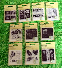 Mini Acrylic Stamps - Huge Variety - NATURE INSPIRED - Flowers, Leaves, Cute!