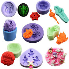 3D Fondant Cake Cupcake Decorating Tools Cutter Silicone Mold Jelly Bakeware Pan