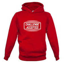 Challenge Accepted - Kids / Childrens Hoodie - 7 Colours - Funny - Game - Nerd