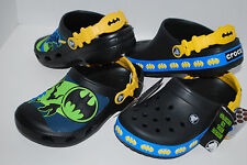 NWT CROCS CROCBAND GLOW IN DARK BATMAN CUSTOM CLOGS 6/7 10/11 12/13 1 2 3 shoes