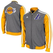 Los Angeles Lakers MENS 2013/14 Full Zip Up On-Court Warm Up 2nd Jacket Adidas