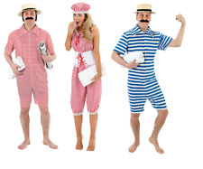 FANCY DRESS BEACH HUNK AND BEACH HONEY 1920's VICTORIAN BATHING SUITS