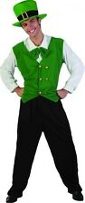 Men Boy Green St Patrick Costume Irish Ireland Stag Night Hat Vest Bow Tie Pants
